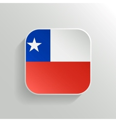 Button - Chile Flag Icon vector image vector image