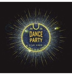 Dance party badges logos and labels Neon for any vector image