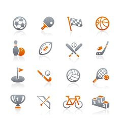 Sports Icons Graphite Series vector image vector image