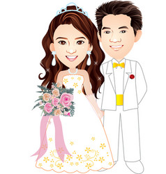 wedding 007 vector image