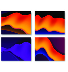 Abstract fluid colors poster baner set background vector