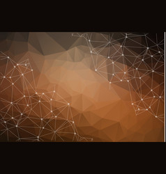 abstract low poly brown technology background vector image