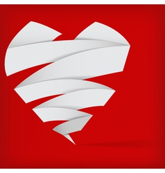 abstract origami heart vector image