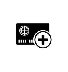 Add credit card flat icon vector