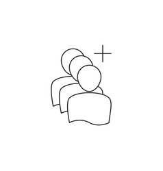 add group line icon vector image