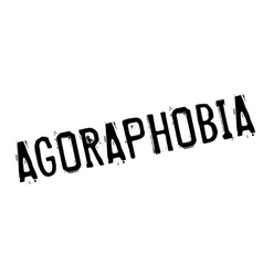 Agoraphobia rubber stamp vector