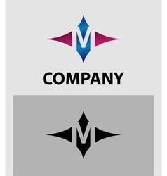 Alphabet icon M logo vector
