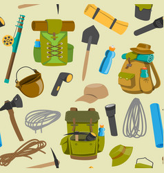 backpack camp backpacking travel bag vector image