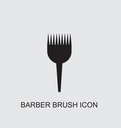 Barber brush icon vector