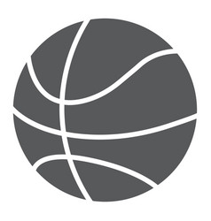 basketball ball glyph icon game and sport vector image