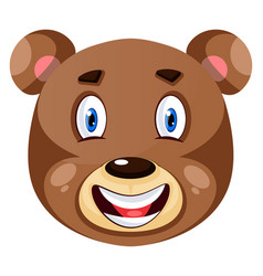 bear is feeling happy on white background vector image