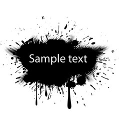 Blot with halftone dots vector