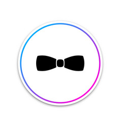 bow tie icon isolated on white background circle vector image