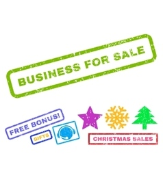 Business For Sale Rubber Stamp vector
