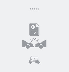 car insurance payment - sterling - web icon vector image
