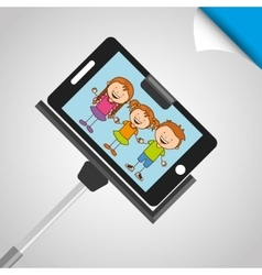 children and camera design vector image