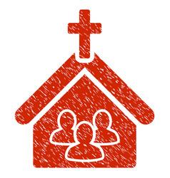 Church grunge icon vector
