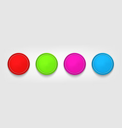 colored buttons badges or banners vector image