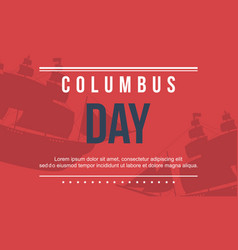 Columbus day on red background vector