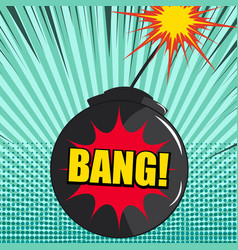 comic explosion dynamic concept vector image
