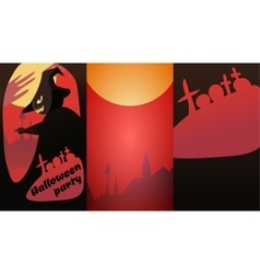 Design invitations to the Halloween party vector