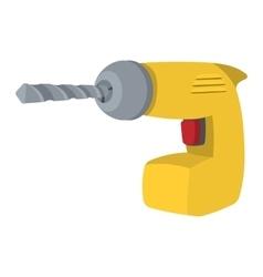 Drill yellow cartoon symbol vector image