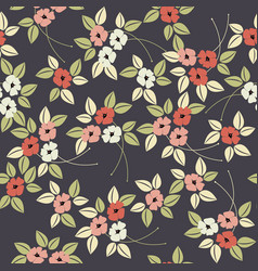 elegant stylised seamless poppy flower pattern vector image