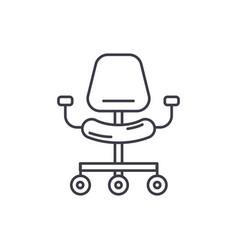 ergonomic chair line icon concept ergonomic chair vector image
