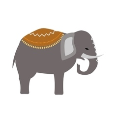 Ethnic indian elephant on the white background vector image