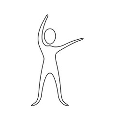 Figure person stretching icon vector