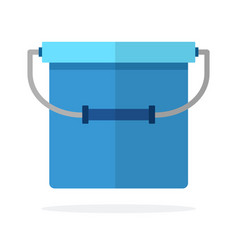 Fishing bucket flat isolated vector