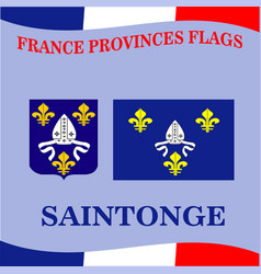 Flag of french province saintonge vector