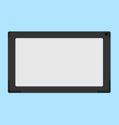 flat of electronic tablet vector image