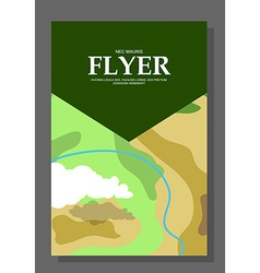 Flyers with the concept of a hike in the mountains vector image