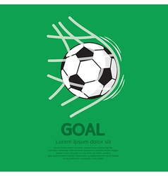 Football or Soccer Ball In Net vector image