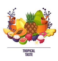 fruits pattern fruity apple banana vector image