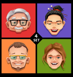 Funny face -set 4 vector