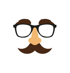 Funny mask flat style vector