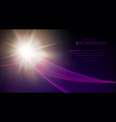 glowing flickering lights vector image