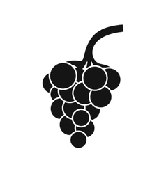 Grape branch icon simple style vector