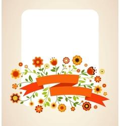 Greeting card invitation vector