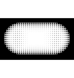 Grid pill shape in graphical black and white hatch vector