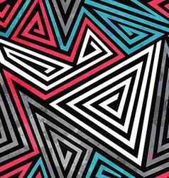grunge triangle spirals seamless pattern vector image