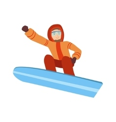 Guy Snowboarding Winter Sports vector image