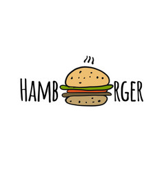 hamburger logo for your design vector image