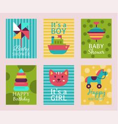 Happy birthday invitation card t-shirt print baby vector