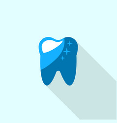 healthy tooth logo icon flat style vector image