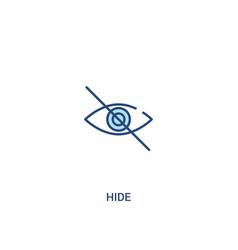 Hide concept 2 colored icon simple line element vector