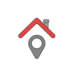 icon concept of map pointer under house roof vector image