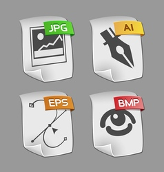 Icons of files collection vector